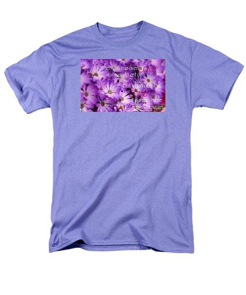 Falling First Men's T-Shirt  (Regular Fit) by David Norman