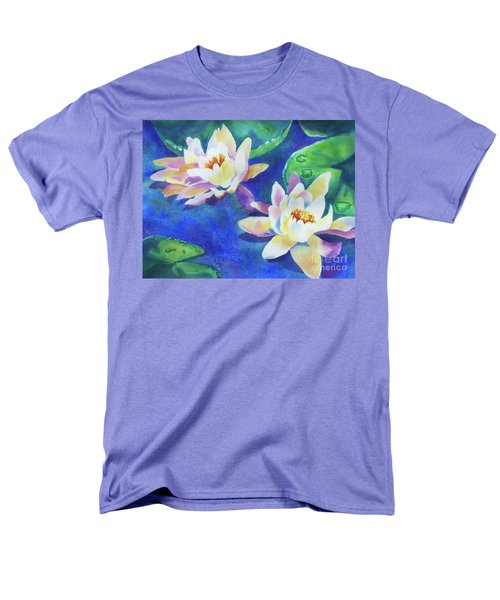 Men's T-Shirt  (Regular Fit) featuring the painting Fancy Waterlilies by Kathy Braud