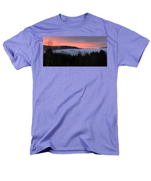 February Oregon Sunrise Men's T-Shirt  (Regular Fit) by Katie Wing Vigil