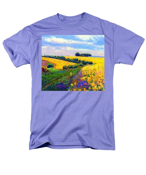 Men's T-Shirt  (Regular Fit) featuring the painting Fields Of Gold by Jane Small
