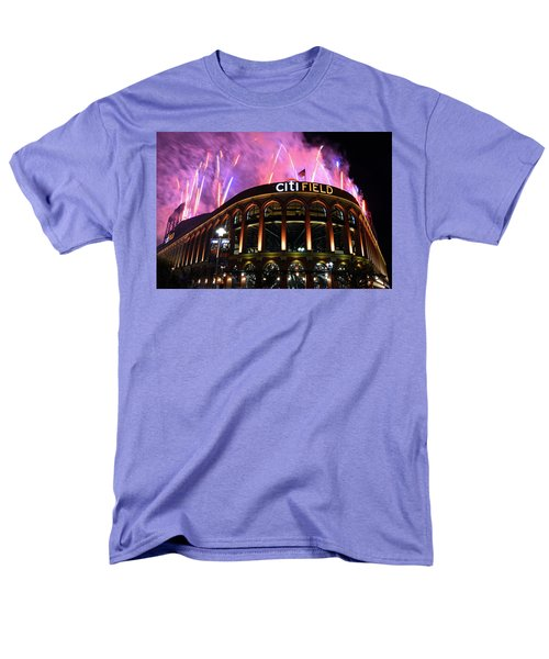 Fireworks Night At Citifield Men's T-Shirt  (Regular Fit) by James Kirkikis