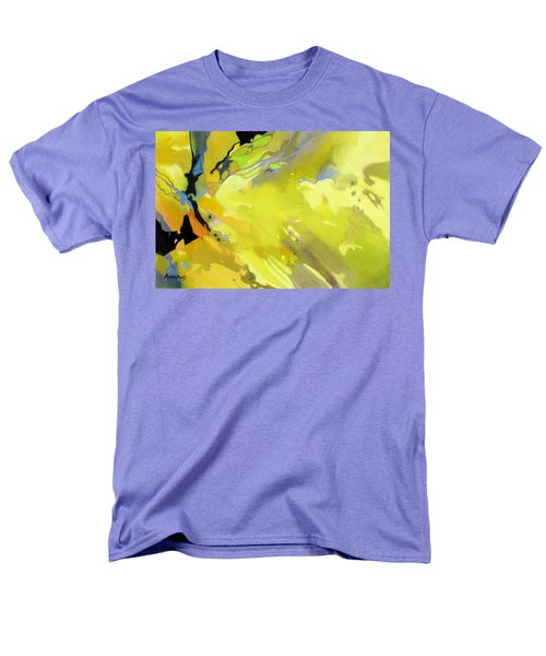 Men's T-Shirt  (Regular Fit) featuring the painting Fissures Of Time by Rae Andrews