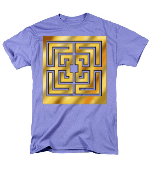 Men's T-Shirt  (Regular Fit) featuring the digital art Gold Geo 3 - Chuck Staley by Chuck Staley