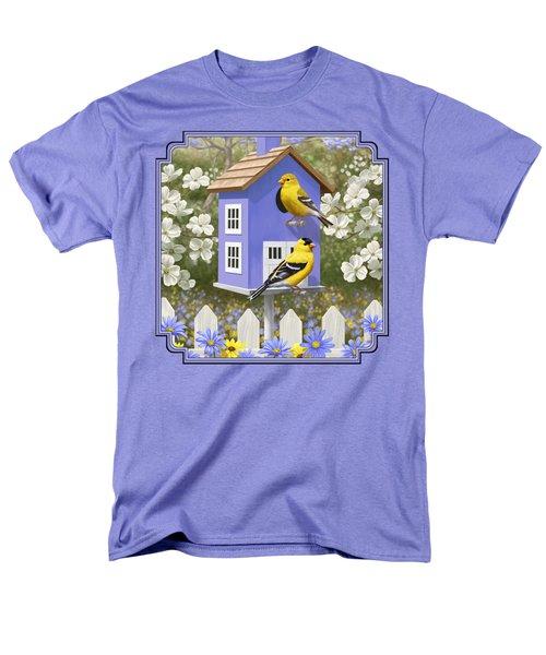 Goldfinch Garden Home Men's T-Shirt  (Regular Fit) by Crista Forest