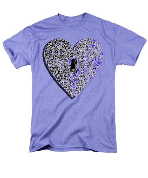 Heart Shaped Lock .png Men's T-Shirt  (Regular Fit) by Al Powell Photography USA