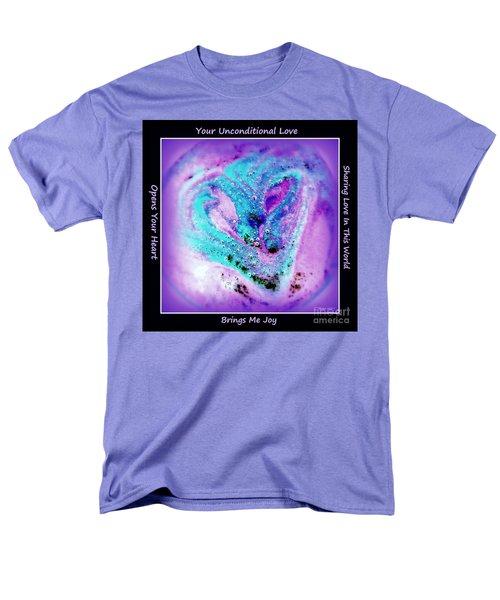 Heart Swirl Sedona Men's T-Shirt  (Regular Fit) by Marlene Rose Besso