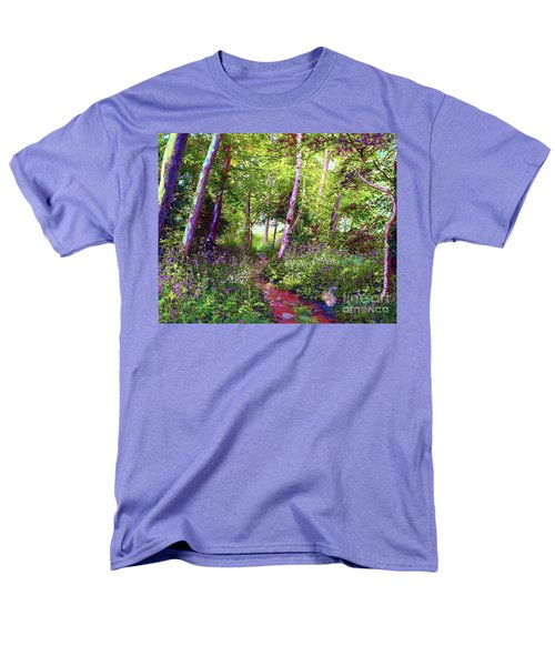 Men's T-Shirt  (Regular Fit) featuring the painting Heavenly Walk Among Birch And Aspen by Jane Small