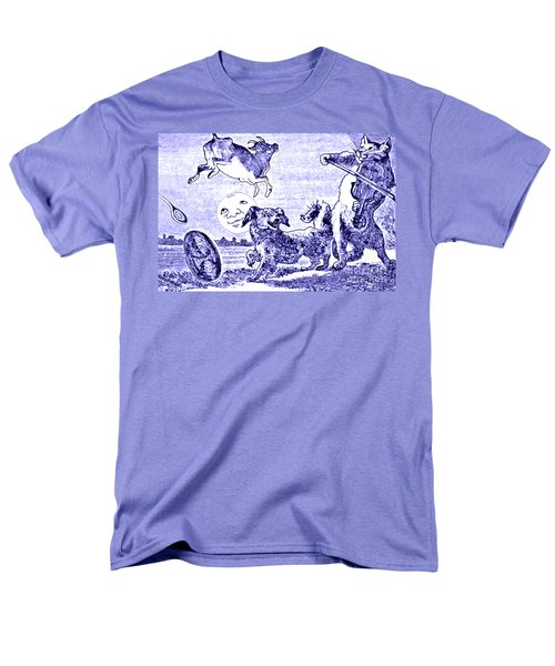 Hey Diddle Diddle The Cat And The Fiddle Nursery Rhyme Men's T-Shirt  (Regular Fit) by Marian Cates