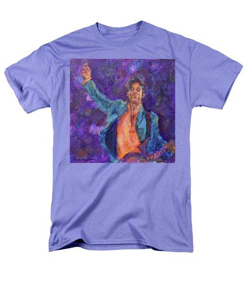 His Purpleness - Prince Tribute Painting - Original Art Men's T-Shirt  (Regular Fit) by Quin Sweetman