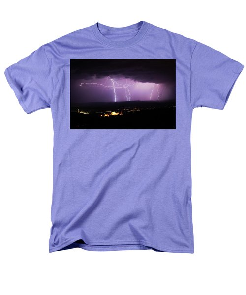 Horizontal And Vertical Lightning Men's T-Shirt  (Regular Fit) by Ron Chilston