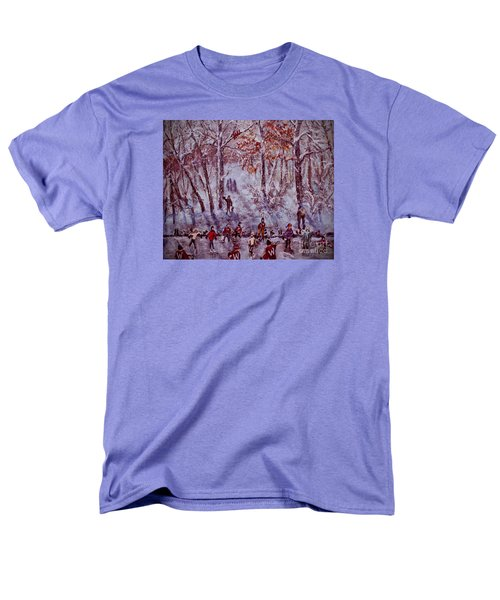 Ice Skating On Hardy Pond Men's T-Shirt  (Regular Fit) by Rita Brown