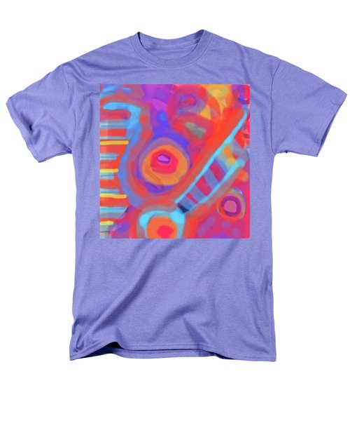 Men's T-Shirt  (Regular Fit) featuring the painting Juicy Colored Abstract by Susan Stone