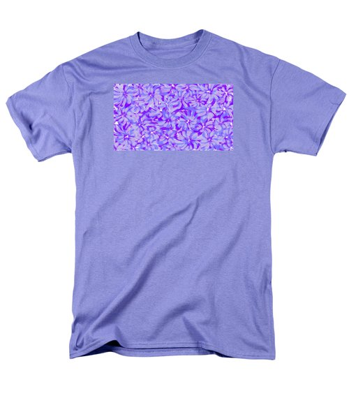 Lavender Blue 1 Men's T-Shirt  (Regular Fit) by Linda Velasquez