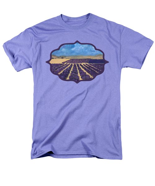 Men's T-Shirt  (Regular Fit) featuring the painting Lavender Field by Anastasiya Malakhova