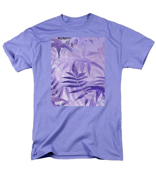 Lavender Leaves  Men's T-Shirt  (Regular Fit) by Sandra Foster