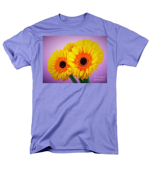 Lovely And Beautiful - Gerbera Daisies Men's T-Shirt  (Regular Fit) by Ray Shrewsberry