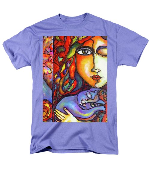 Men's T-Shirt  (Regular Fit) featuring the painting Lucid Dreams by Rae Chichilnitsky