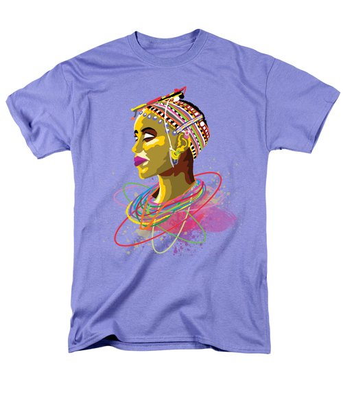 Men's T-Shirt  (Regular Fit) featuring the painting Maasai Beauty by Anthony Mwangi