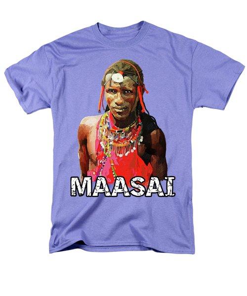 Maasai Moran Men's T-Shirt  (Regular Fit) by Anthony Mwangi