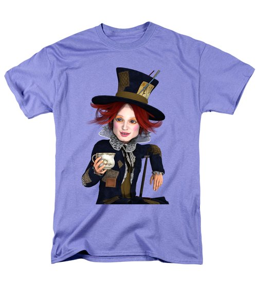 Mad Hatter Portrait Men's T-Shirt  (Regular Fit) by Methune Hively