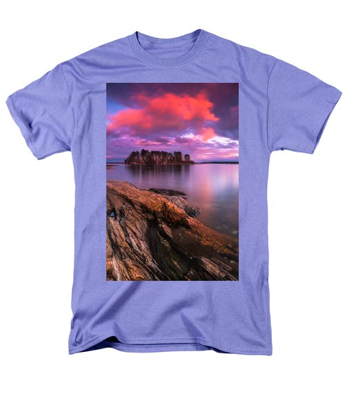 Maine Pound Of Tea Island Sunset At Freeport Men's T-Shirt  (Regular Fit) by Ranjay Mitra