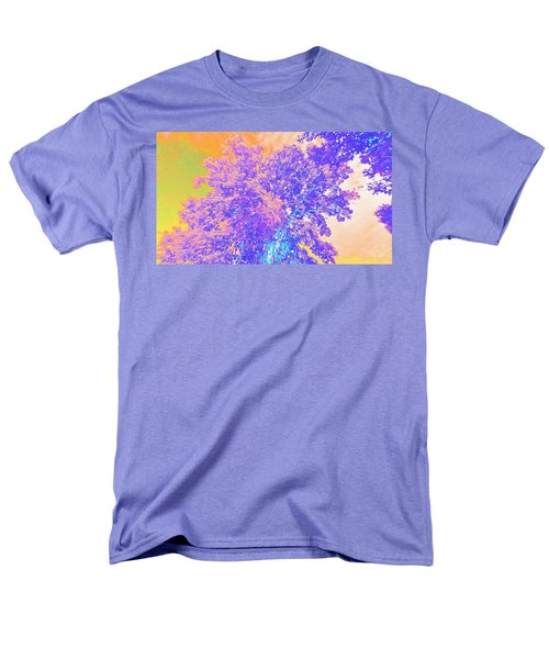 Men's T-Shirt  (Regular Fit) featuring the mixed media Mighty Oak Abstract by Mike Breau