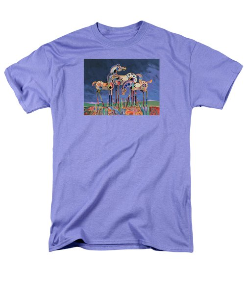 Men's T-Shirt  (Regular Fit) featuring the painting Mom And Foals by Bob Coonts