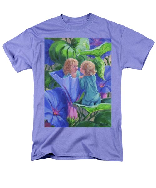 Men's T-Shirt  (Regular Fit) featuring the painting Morning Glories by Karen Ilari