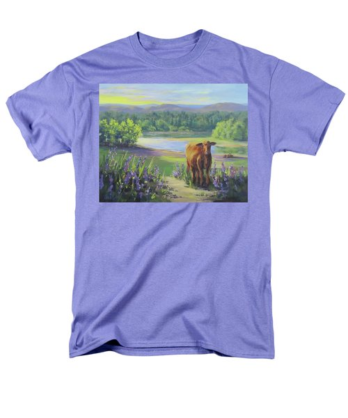 Men's T-Shirt  (Regular Fit) featuring the painting Morning Walk by Karen Ilari