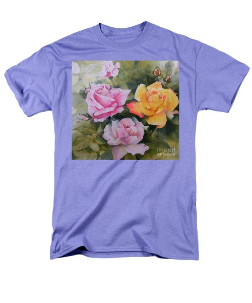 Men's T-Shirt  (Regular Fit) featuring the painting Mum's Roses by Sandra Phryce-Jones