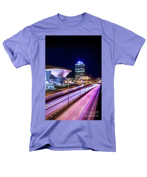 Men's T-Shirt  (Regular Fit) featuring the pyrography Munich - Bmw City At Night by Hannes Cmarits