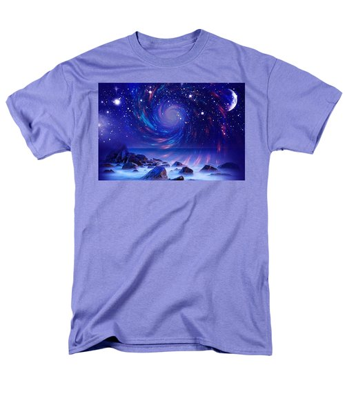 Mystic Lights Men's T-Shirt  (Regular Fit) by Gabriella Weninger - David