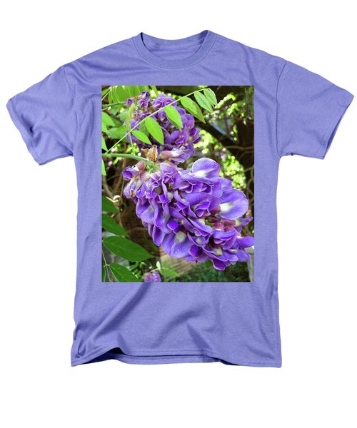 Men's T-Shirt  (Regular Fit) featuring the photograph Native Wisteria Vine II by Angela Annas