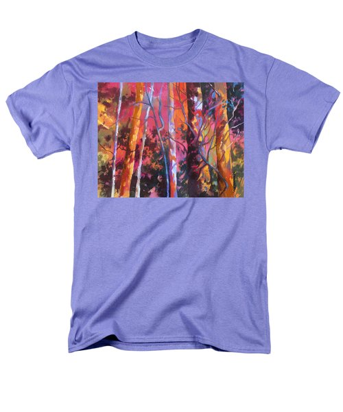 Men's T-Shirt  (Regular Fit) featuring the painting Neon Damsels by Rae Andrews