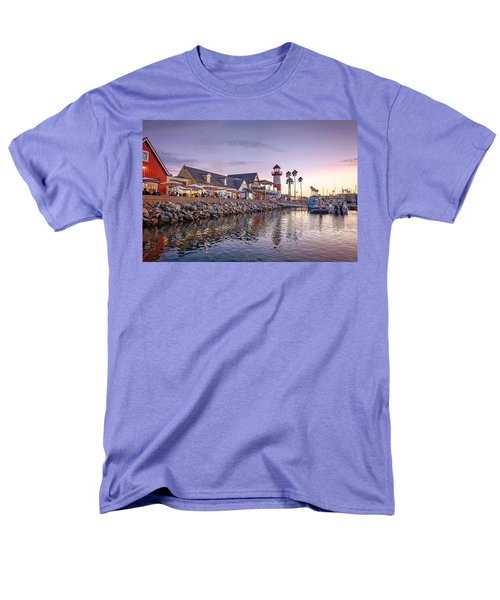 Oceanside Harbor Men's T-Shirt  (Regular Fit) by Ann Patterson