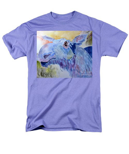 Once In A Blue Moose Men's T-Shirt  (Regular Fit) by Sandy McIntire