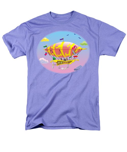 Men's T-Shirt  (Regular Fit) featuring the digital art Dreamship II by J L Meadows