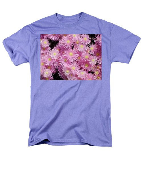 Pale Pink Flowers Men's T-Shirt  (Regular Fit) by Mark Barclay