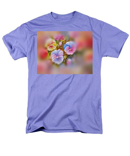 Pansies Men's T-Shirt  (Regular Fit) by Patricia Schneider Mitchell