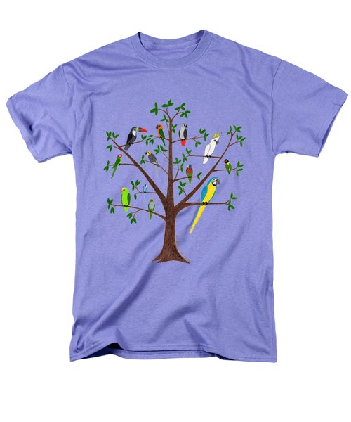 Parrot Tree Men's T-Shirt  (Regular Fit) by Rita Palmer