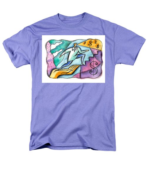 Men's T-Shirt  (Regular Fit) featuring the painting Physician And Money by Leon Zernitsky