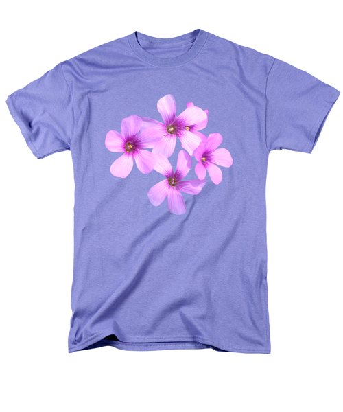 Men's T-Shirt  (Regular Fit) featuring the photograph Pink Cutout Flowers by Linda Phelps