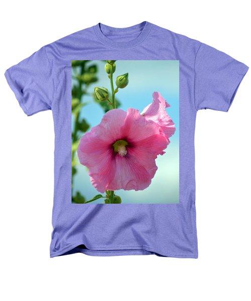 Pink Holyhock. Men's T-Shirt  (Regular Fit) by Terence Davis