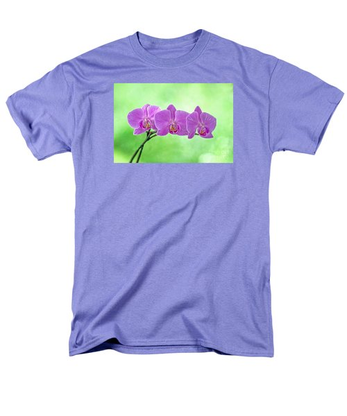 Men's T-Shirt  (Regular Fit) featuring the photograph Pink Orchids by Alana Ranney