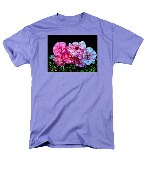 Men's T-Shirt  (Regular Fit) featuring the photograph Pink - White Roses  by Sadie Reneau