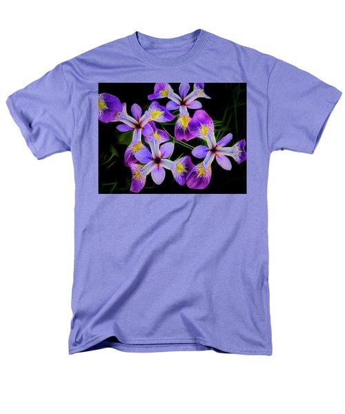 Pinwheel Purple Iris Glow Men's T-Shirt  (Regular Fit) by Penny Lisowski