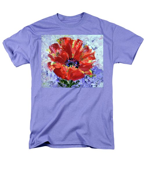 Poppy In Fields Of Lavender Men's T-Shirt  (Regular Fit) by Lynda Cookson