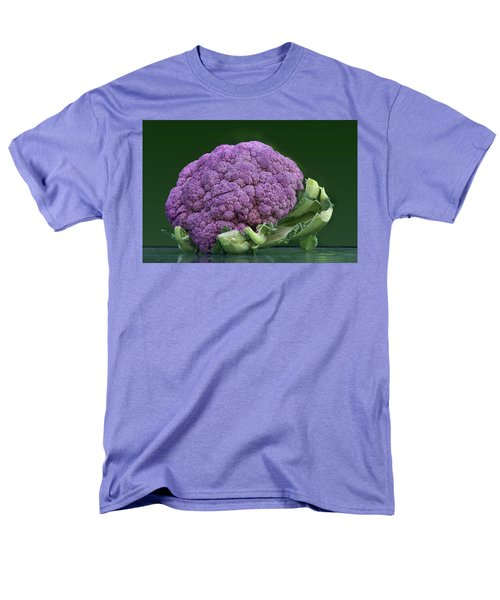 Purple Cauliflower Men's T-Shirt  (Regular Fit) by Nikolyn McDonald