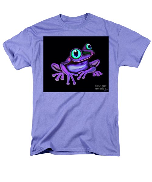 Men's T-Shirt  (Regular Fit) featuring the painting Purple Frog  by Nick Gustafson