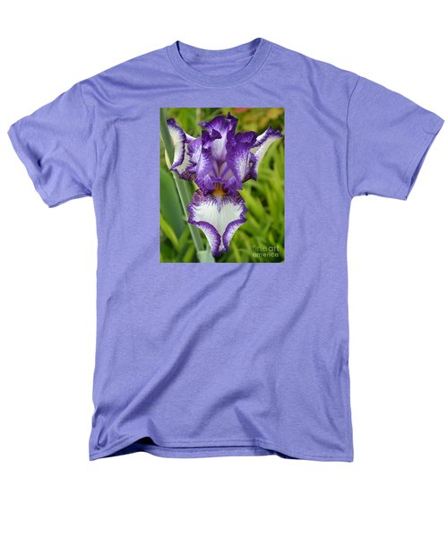 Purple Iris Art Men's T-Shirt  (Regular Fit)